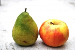 Compote de pommes et de poires au gingembre