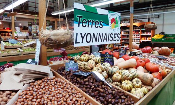 L'intérieur d'un magasin Terres Lyonnaises