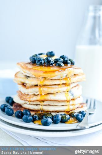 recette crepe pancakes fruits rouges